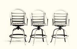 Minimalist Three Chairs Royalty Free Stock Photography