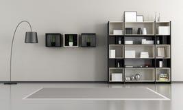 Minimalist tom livingroom royaltyfri illustrationer