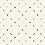 Minimalist vector seamless pattern with small floral shapes, triangles, squares vector illustration