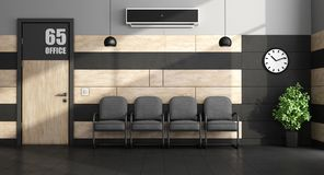 Minimalist waiting room Royalty Free Stock Images