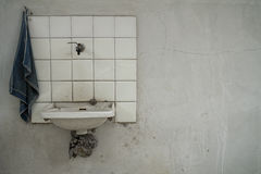 Minimalist washbasin Stock Photography
