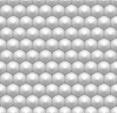 Minimalist white hexagon seamless pattern, abstract honeycomb 3D. Like industrial background with realistic shading, hi-tech, futuristic style polygonal texture Royalty Free Stock Photos