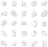 Minimaliste blanc réglé d'icône