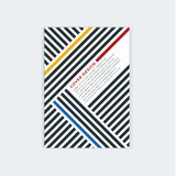 Minimalistic小册子模板设计 飞行物,小册子,年终报告盖子模板 现代对角抽象条纹 向量例证