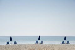 Minimalistic水平海滩的照片- 免版税库存照片