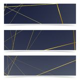 Minimalistic abstract art-deco royal vintage style banners   Royalty Free Stock Images