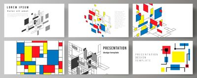 The minimalistic abstract vector editable layout of the presentation slides design business templates. Abstract. Polygonal background, colorful mosaic pattern vector illustration