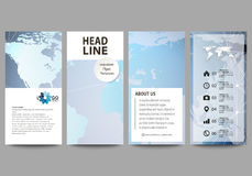 The minimalistic abstract vector illustration of the editable layout of four modern vertical banners, flyers design Royalty Free Stock Image