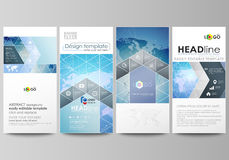 The minimalistic abstract vector illustration of editable layout of four modern vertical banners, flyers design business Stock Photos