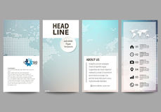 The minimalistic abstract vector illustration of editable layout of four modern vertical banners, flyers design business Royalty Free Stock Photos