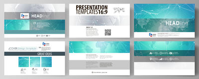 The minimalistic abstract vector illustration of editable layout of high definition presentation slides design business Royalty Free Stock Image