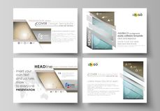 The minimalistic abstract vector illustration of the editable layout of the presentation slides design business Royalty Free Stock Photo