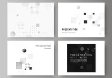 The minimalistic abstract vector illustration of the editable layout of the presentation slides design business. Templates. Abstract vector background with vector illustration