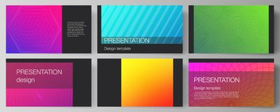 The minimalistic abstract vector illustration of the editable layout of the presentation slides design business. Templates. Abstract geometric pattern with royalty free illustration