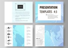 The minimalistic abstract vector illustration of the editable layout of the presentation slides design business Stock Photo