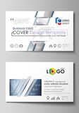 The minimalistic abstract vector illustration of the editable layout of two creative business cards design templates Stock Images