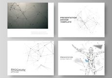 The minimalistic abstract vector layout of the presentation slides design business templates. Technology, science. Medical concept. Molecule structure Stock Photography