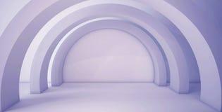Minimalistic, abstrakter Hintergrund mit einem Bogen 3d übertragen, minimal stock abbildung
