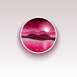Minimalistic-Ausweis Einfache Illustration einer Natur Auch im corel abgehobenen Betrag Stockfotografie