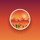 Minimalistic-Ausweis Einfache Illustration einer Natur Auch im corel abgehobenen Betrag Lizenzfreies Stockbild