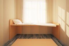 Minimalistic bedroom interior Stock Photography
