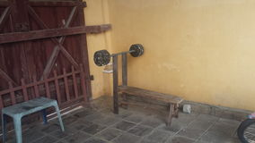 Minimalistic benchpress Στοκ φωτογραφία με δικαίωμα ελεύθερης χρήσης