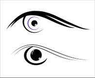 Eye icon isolated. Minimalistic black stylish button with eye icon Stock Photos
