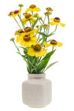 Minimalistic  bouquet  - mini yellow flowers Royalty Free Stock Photos