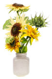 Minimalistic  bouquet  - mini yellow sunflowers Stock Photo