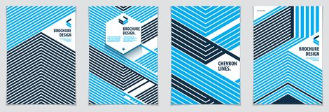 Minimalistic brochure designs. Vector geometric patterns abstrac. T backgrounds set. Design templates for flyers, booklets, greeting cards, invitations and Royalty Free Stock Photography