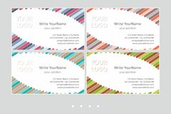 Minimalistic business card vector templates. Universal geometric design with color accent - just place your text. In EPS - CMYK - Calibri royalty free illustration