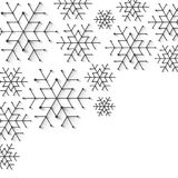 Minimalistic christmas snowflake background. Simply low poly winter theme royalty free illustration