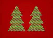Minimalistic christmas tree. Christmas tree illustration made of cubes Royalty Free Stock Image