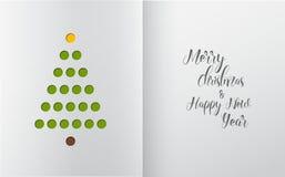 Minimalistic Christmas tree made from holes Stock Photos