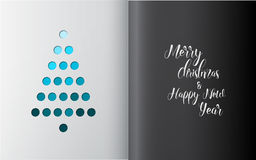 Minimalistic Christmas tree made from holes Royalty Free Stock Image