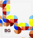 Minimalistic circle composition background vector illustration