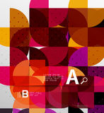 Minimalistic circle geometric abstract background Stock Photography