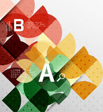 Minimalistic circle geometric abstract background Stock Images