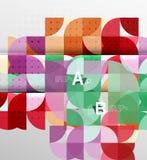 Minimalistic circle geometric abstract background Stock Image