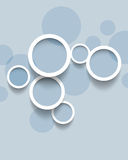 Minimalistic circles concept background Royalty Free Stock Photos
