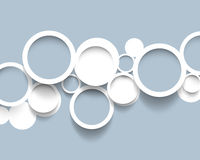 Minimalistic circles concept background Royalty Free Stock Image