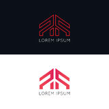 Minimalistic company icon sign vector logo design. Company icon sign vector logo design Royalty Free Stock Photo