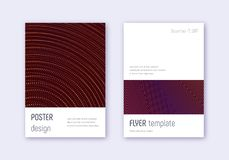 Minimalistic cover design template set. Orange abs royalty free illustration