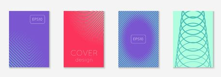 Minimalistic cover template set with gradients. Cool cover template. Minimal trendy vector with halftone gradients. Geometric cool cover template for flyer vector illustration