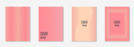 Minimalistic cover template set with gradients. Gradient cover template set. Minimal trendy layout with halftone. Futuristic gradient cover template for banner Stock Photos