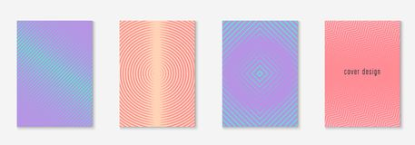Minimalistic cover template set with gradients. Gradient cover template set. Minimal trendy layout with halftone. Futuristic gradient cover template for banner vector illustration