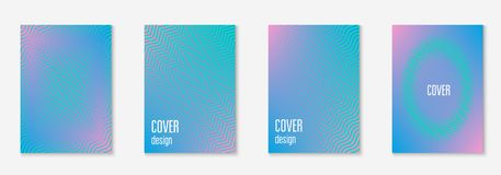 Minimalistic cover template set with gradients. Gradient cover template set. Minimal trendy layout with halftone. Futuristic gradient cover template for banner Royalty Free Stock Images