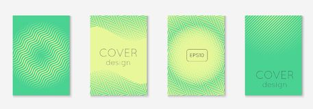 Minimalistic cover template set with gradients. Minimal trendy cover template set. Futuristic layout with halftones. Geometric minimal cover template for book Stock Photo