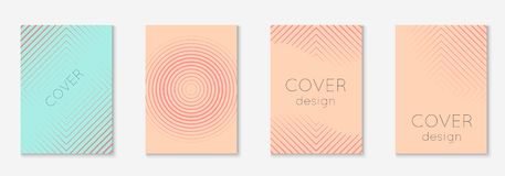 Minimalistic cover template set with gradients. Minimal trendy cover template set. Futuristic layout with halftones. Geometric minimal cover template for book vector illustration