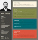 Minimalistic cv / resume template Royalty Free Stock Photo